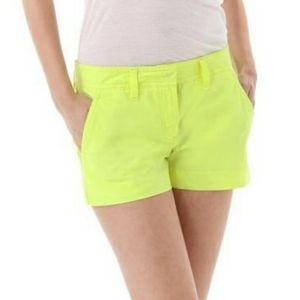 J. Crew Lime Green Chino Broken-in Shorts
